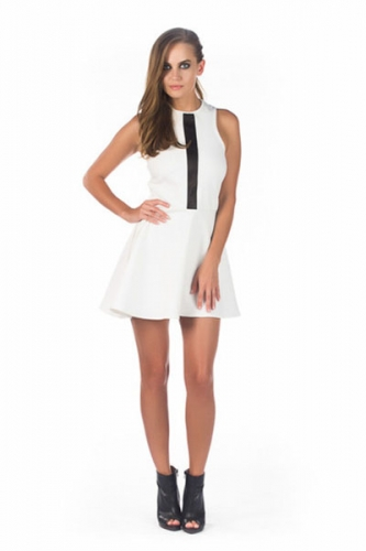 White Poppy Dress