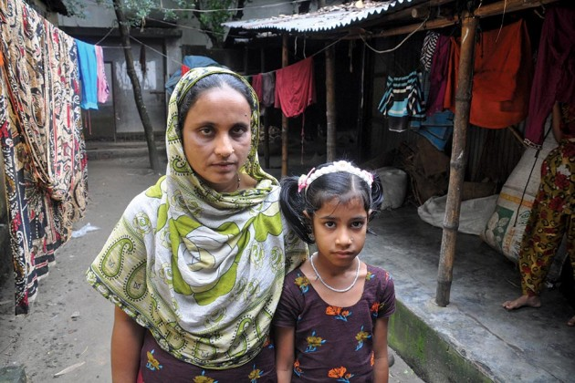 Bangladeshi woman and her child