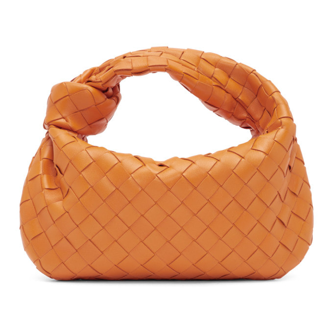 BOTTEGA VENETA ORANGE MINI INTRECCIATO JODIE BAG