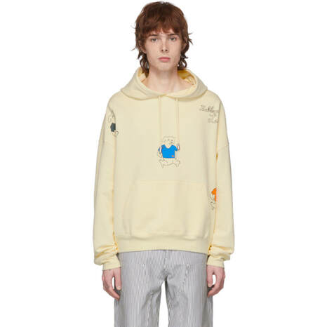 Eckhaus Latta Yellow Three Dogs Hoodie