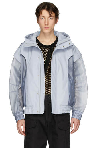 Feng Chen Wang Blue Mesh Jacket