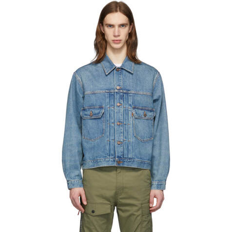 Levis Vintage Blue Denim Type 2 trucker Jacket