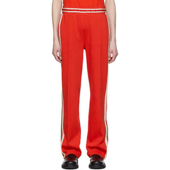 Wales Bonner Red Crochet Stripes Lounge Pants